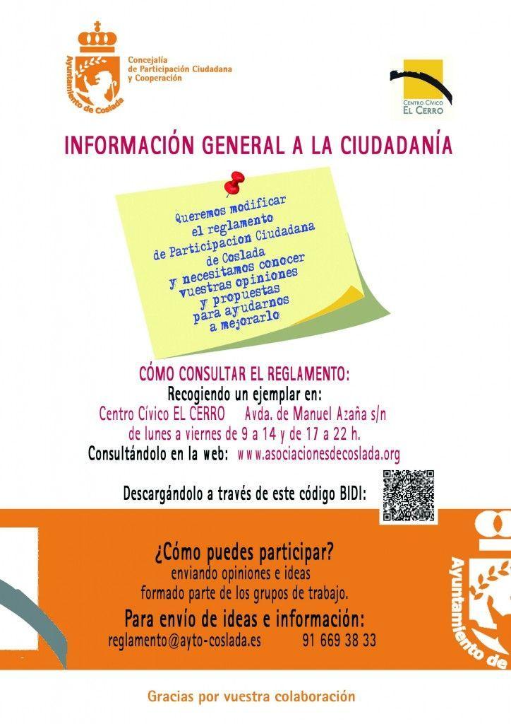 CARTEL jpg BAJA modificacion Reglamento Participacion Ciudadana 2015